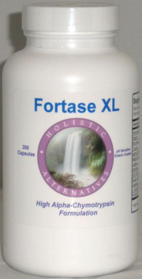 Picture of Fortase XL 200 enteric coated enzyme Capsules